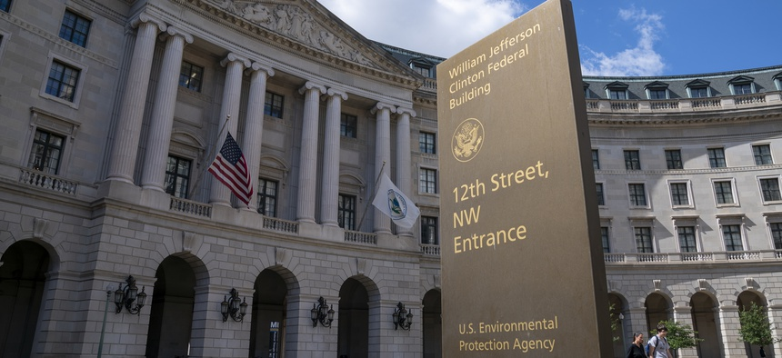 The headquarters of the Environmental Protection Agency is seen in Washington.