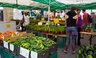 The farmer's market in Union Square has over 140 local vendors during its peak season.