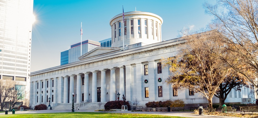 The Ohio state legislative building.