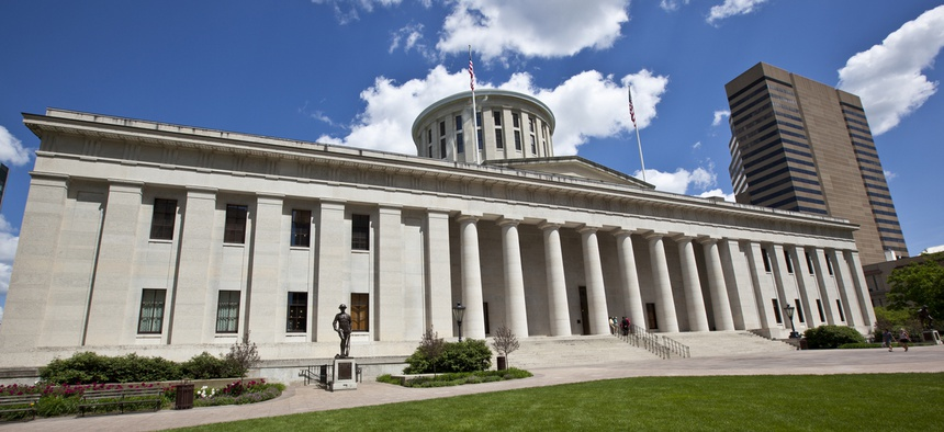 The Ohio state house in Columbus.