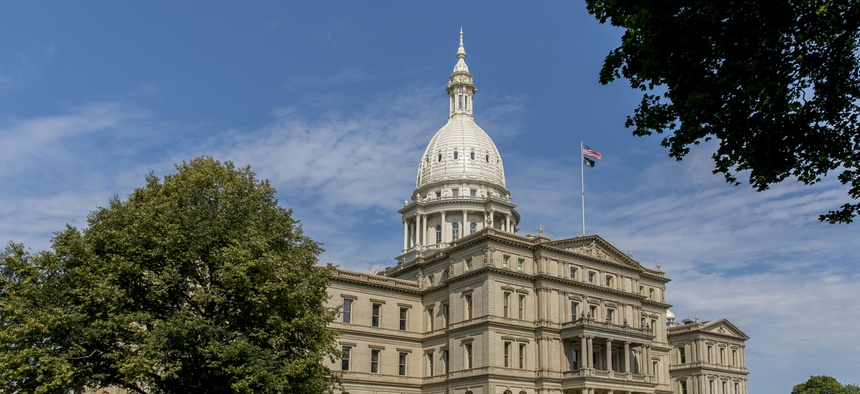 The Michigan State Capital. A bipartisan group of eight former Michigan state legislators filed a federal lawsuit challenging term limits that kept them from running again.