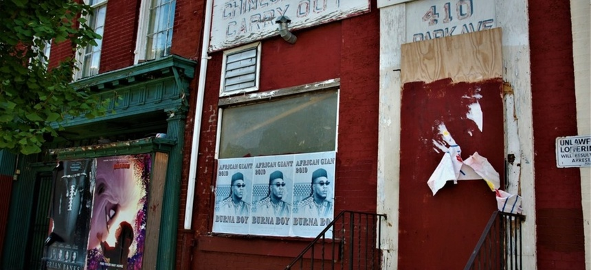 Park Avenue in Baltimore's historic Chinatown was largely abandoned, but has recently become home to Ethiopian businesses that now fear being pushed out as developers move in.