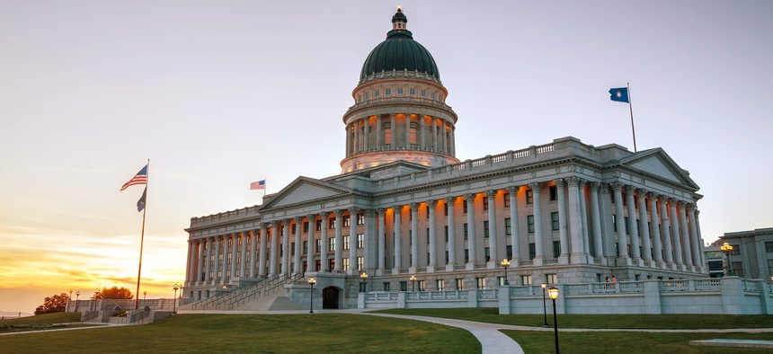 The Utah state capitol in Salt Lake City. Utah was one of at least 37 states that provided pay raises to public employees in fiscal year 2020.