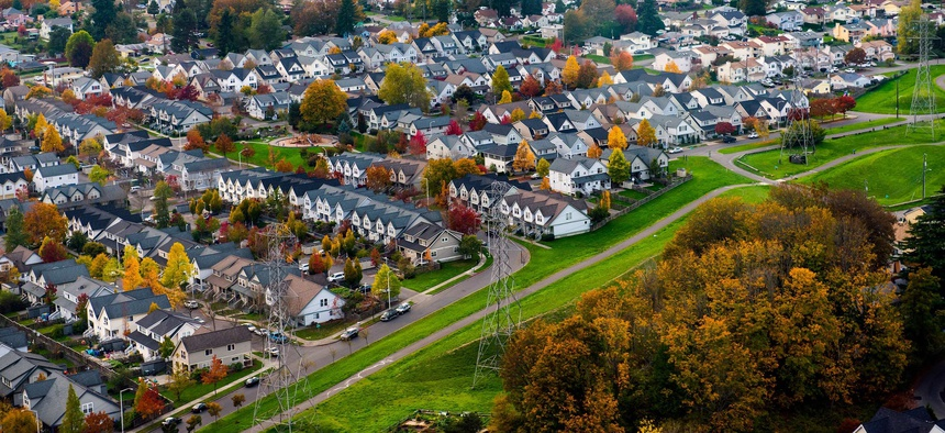 Houses in the Seattle area. A new study identifies the region that includes Seattle as one of the more heavily regulated housing markets in the U.S.
