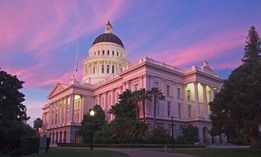 The California state capitol building, in Sacramento.