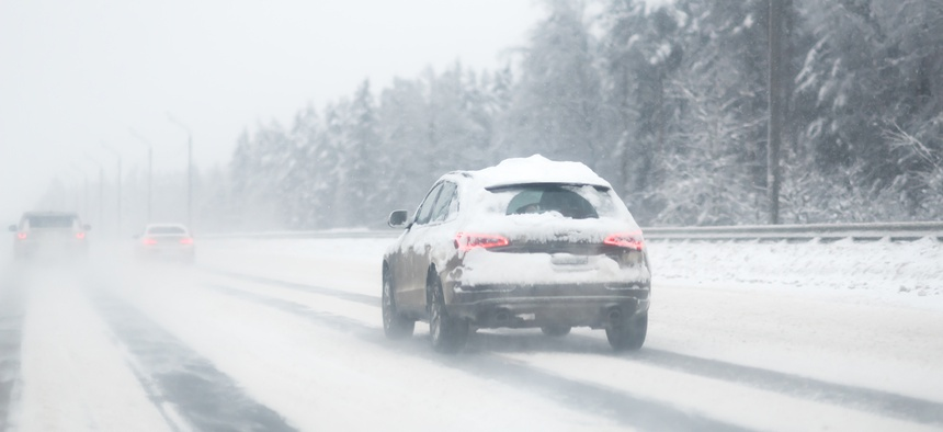 Police and safety officials encourage drivers to keep their vehicles' roofs and windshields clear of snow and ice, but not everyone takes heed.