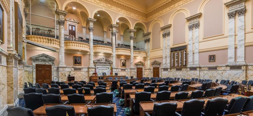 The Maryland State Legislature's chambers.