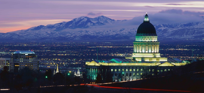 The Utah state Capitol building in Salt Lake City.