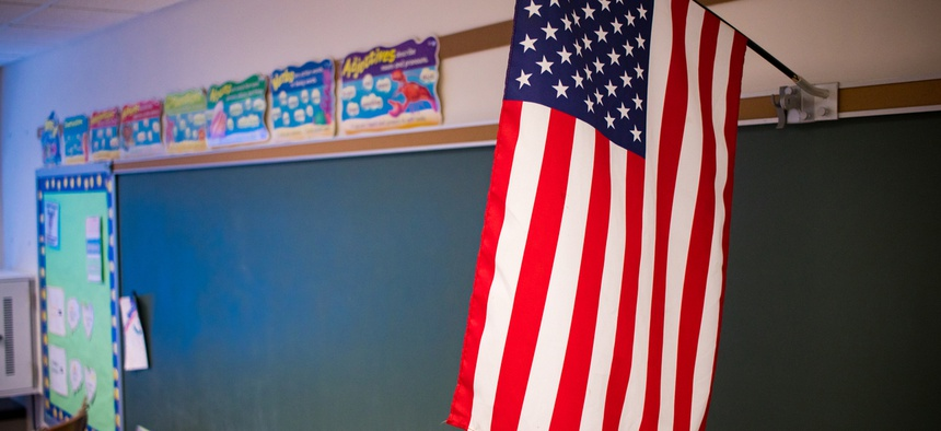 School boards would be tasked with choosing a rendition of the anthem. Acceptable versions include those on file with the Library of Congress.
