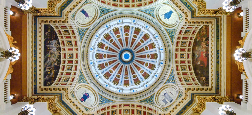 The rotunda inside the Pennsylvania state Capitol.