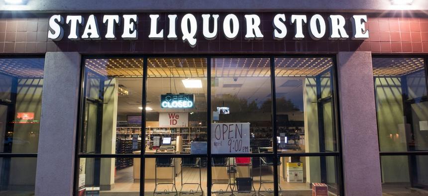A liquor store in Moab, Utah.