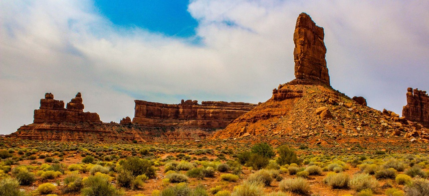 Sandstone formations on public land in Utah. President Trump has taken action to downsize the amount of protected land within national monuments in the state.