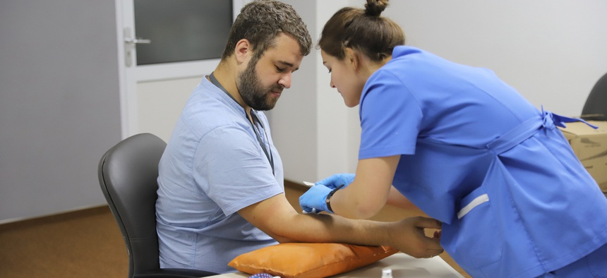 There is a nationwide shortage of blood due the coronavirus pandemic.
