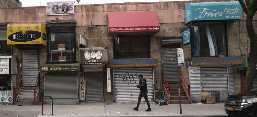 Small businesses in New York are shuttered during the coronavirus pandemic. Small business owners with certain types of criminal records are barred from loans intended to help them survive during closures.