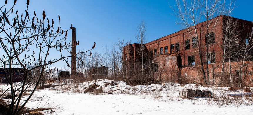 A long abandoned and derelict factory in Youngstown, Ohio.