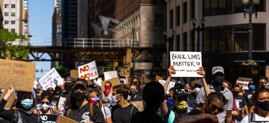 A recent protest in Chicago