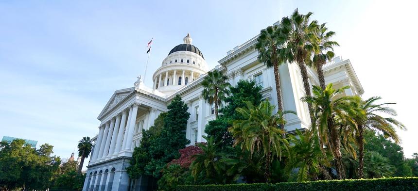 The California state capitol in Sacramento.