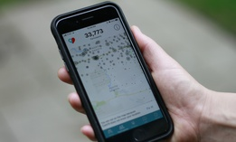 The Care19 app is seen on a cell phone screen, Friday, May 22, 2020, in Sioux Falls, S.D. Care19, a contact tracing app is being pushed by the governors of North Dakota and South Dakota as a tool to trace exposure to the coronavirus.