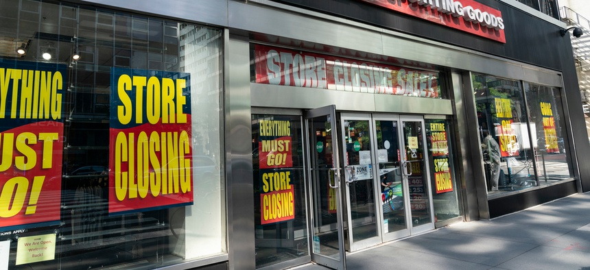 Sporting goods store Modell's filed for bankruptcy as a result of the pandemic.