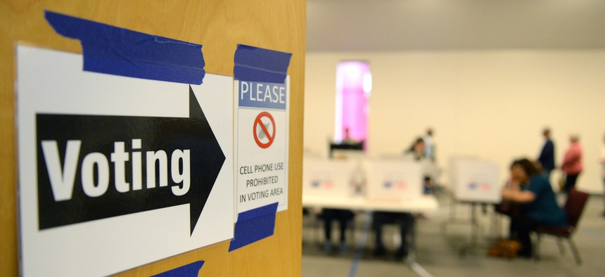 A polling place in St. Louis.