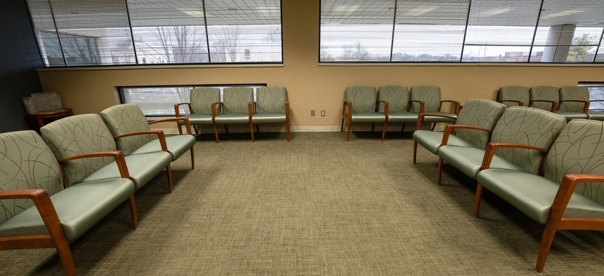 An empty doctor's office.